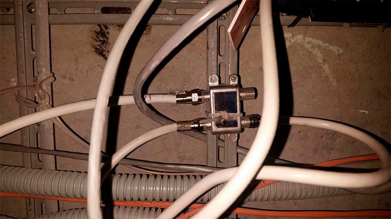Подключение кабельного тв в щитке